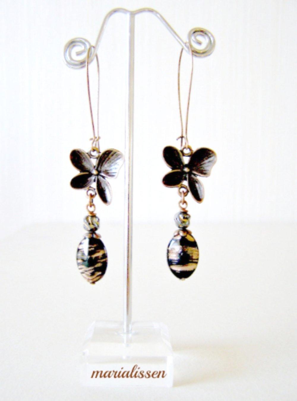 Boucles Les Papillons Cuivrés