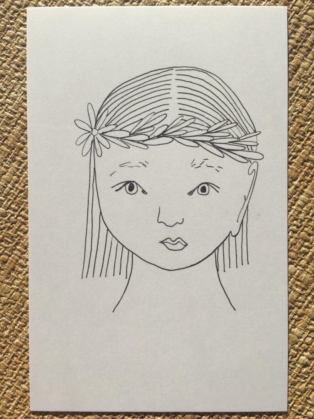 Carte personnalisable- visage