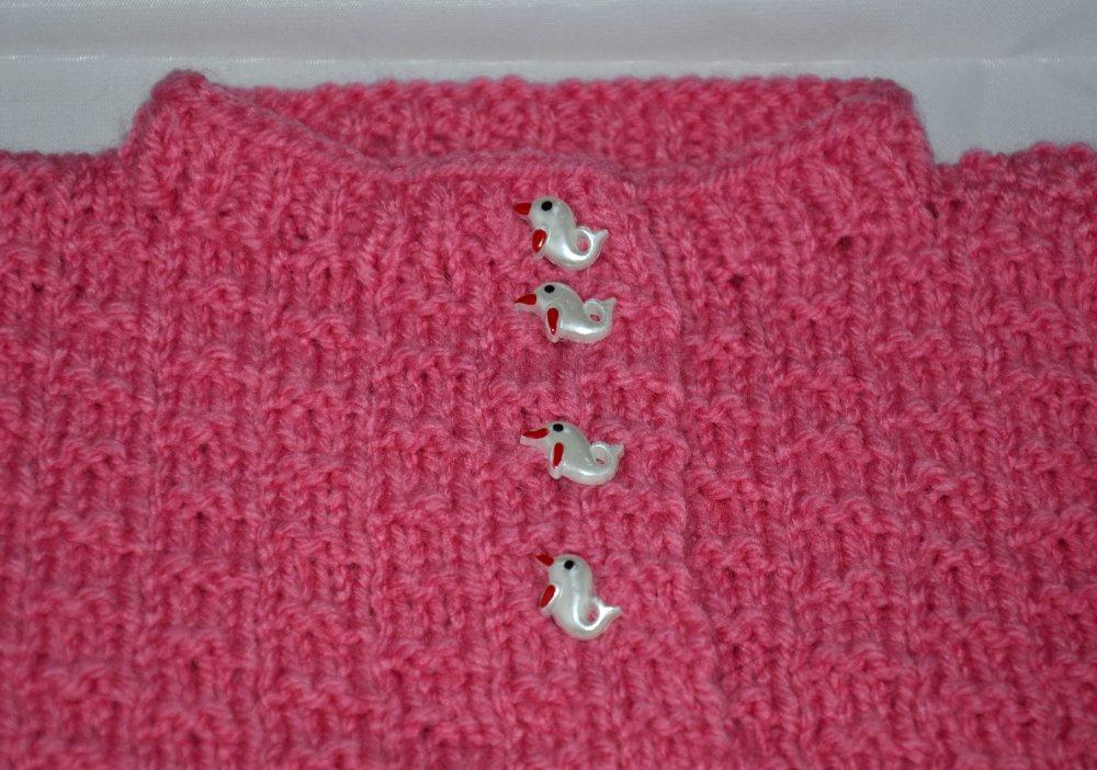 Espagnol Style bébé fille Pull en mailles Jam pantalon rose gris nœuds 3,6,12,18 M BMW