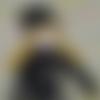 Poupée chaussette fleuri - poupée de chiffon -