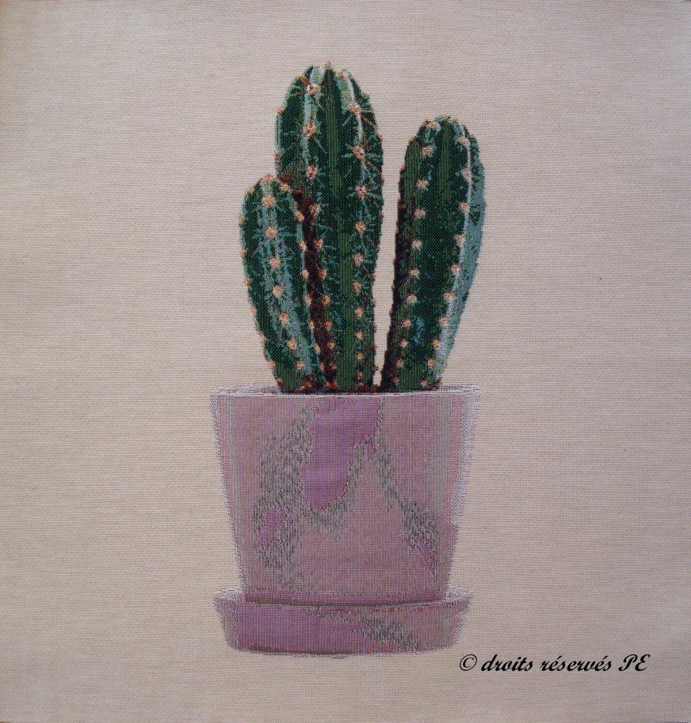 Coupon Tissu Tapisserie Panneau CACTUS n° 5, tissu jacquard pour coussin, sac, ameublement, décoration intérieure