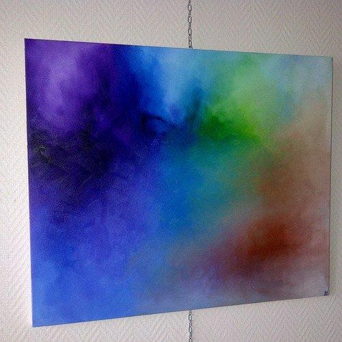 Chakras, tableau abstrait , peinture à l'