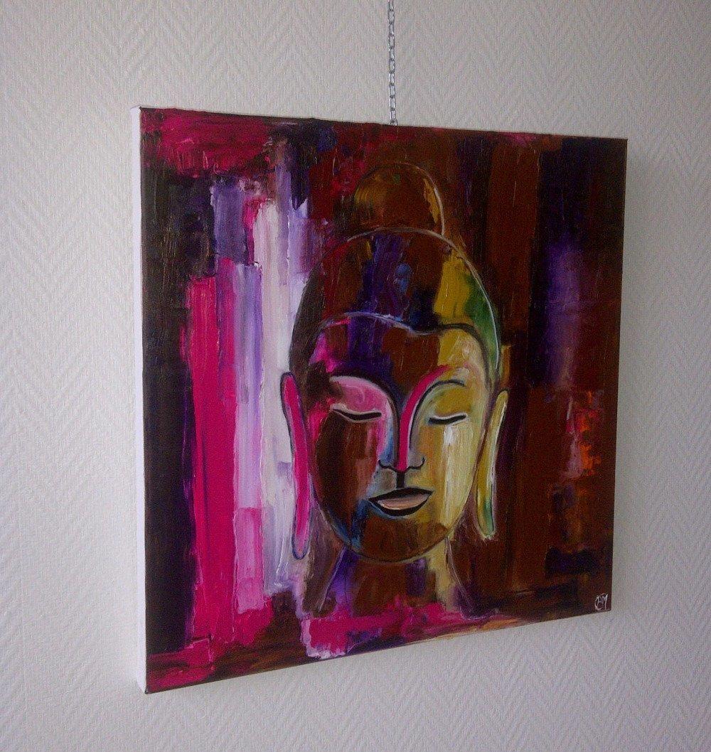 bouddha peinture 60/60cm