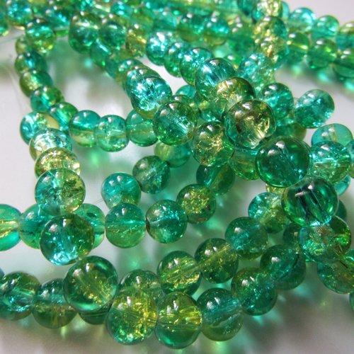 10 perles en verre mouchetées de 8 mm de diamètre