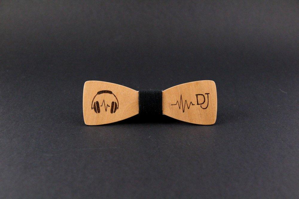 Noeud papillon slim en bois pour DJ