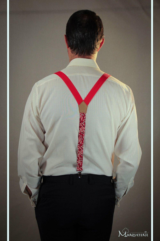 Bretelles homme liberty anglais Mitsi rouge et blanc