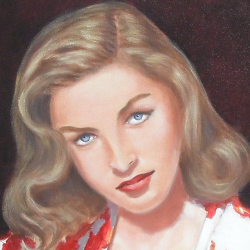 Lauren bacall, portrait peinture à l'huile