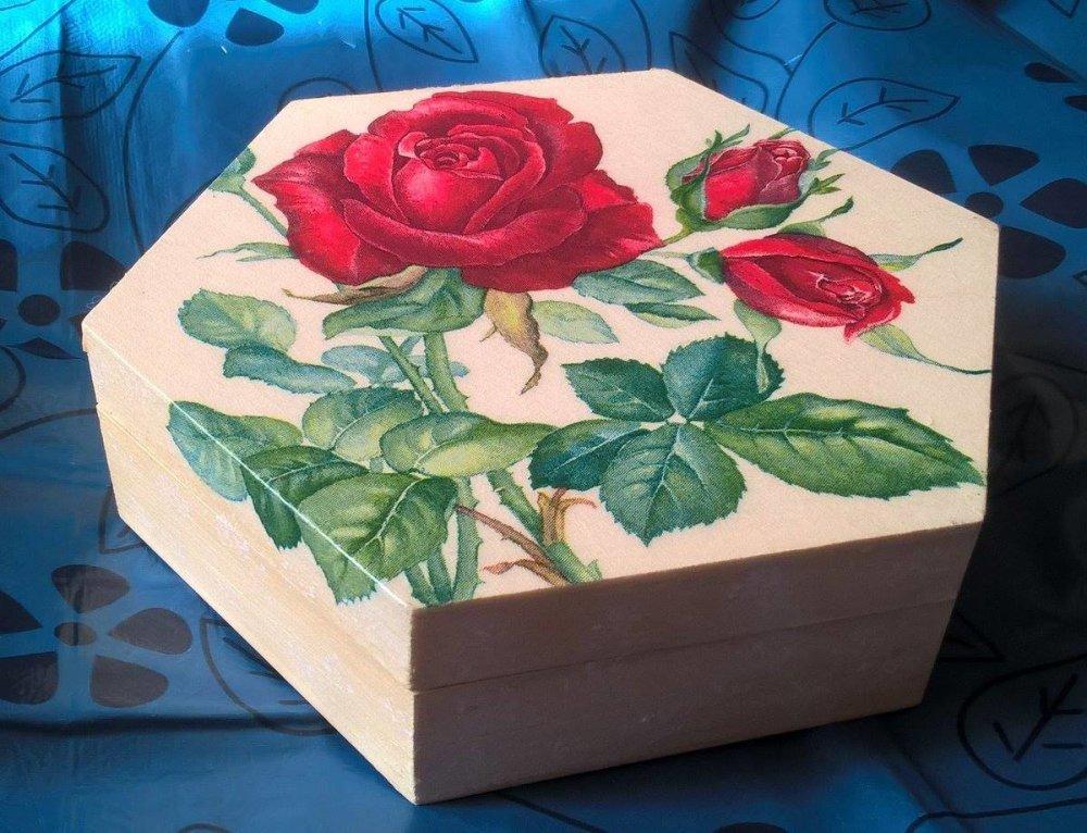 coffret hexagonal la rose