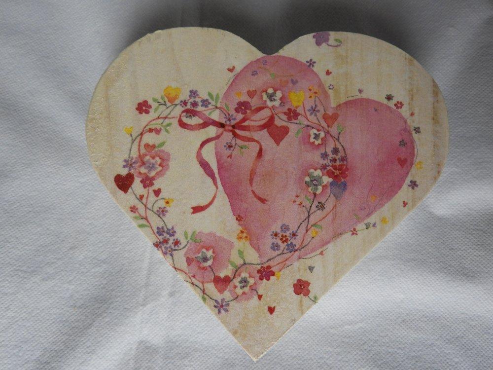 coffret coeur rose