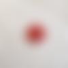 Rosace rouge forme losange - céramique raku - pour mosaique, bijou ou tout autre création (à coller ou à poser)