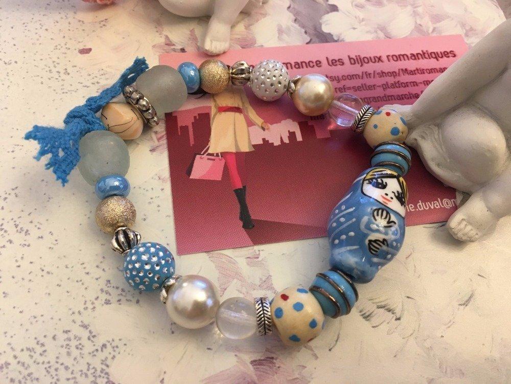 bracelet Matriochka turquoise