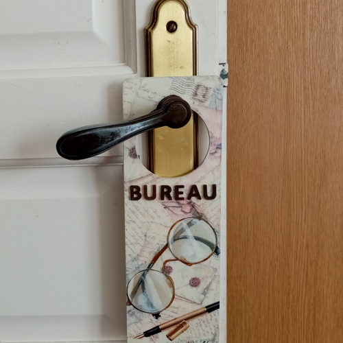 Plaque de poignée de porte.plaque pour bureau.décoration de la maison
