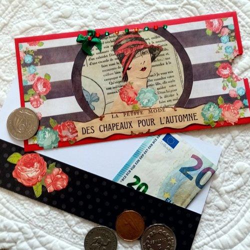 Carte porte-billet ou porte-chèque