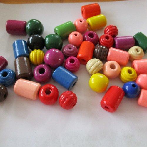 40 G en bois en forme de papillon perles ~ couleurs assort ~ vrac acheter
