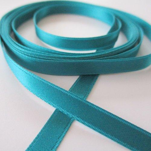 2 m de ruban de satin bleu canard - 0.60 cm - 3693868