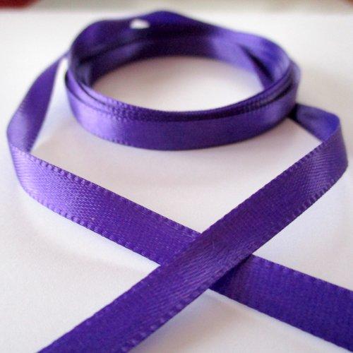 2 m de ruban de satin violet - 0.60 cm - 3693870
