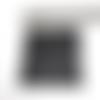 1 carré cotte de mailles noire habillage pour pendentif poupée mannequin breloque en métal noir 5 x 5 cm