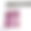 1 rectangle cotte de mailles métal violet lilas 4,5 x 3,5 cm habillage pour pendentif poupée mannequin breloque en métal noir 5 x 5 cm