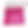 1 cote de mailles 5 x 5,5 cm framboise rouge métal souple fabrication bijoux habillage mini poupée