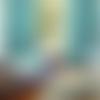 """Lot paire de rideaux occultant tissu polyester envers pvc """" waterproof """" de 210 x 250 cm couleur turquoise menthe style scandinave"""