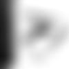 Ruban dentelle élastique largeur 1 cm noir vendu au mètre