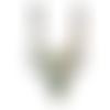 1 plastron ethnique coton blanc brodé à la main de perles multicolores