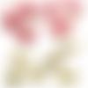 Gros lot neuf de 12 decorations de noel  en tissu velours style vintage