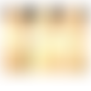 Collier long sautoir chaîne et perles tons bronze et multicolores