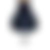 Jupe boule poches coton bleu marine pois blanc taille au choix : 36 38 40 42 44 46 48 50 sur mesures