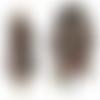 Pull tunique robe asymétrique oversize maille lainage marron finitions et incrustations multicolore