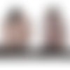 Blouson teddy style shabby chic en voile rose nude imprimé pois noirs