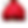 Jupe boule style incrustations fleuries totalement rouge grandes tailles au choix maryse richardson créations paris