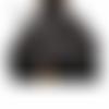 Jupe boule style incrustations fleuries totalement noires grandes tailles au choix maryse richardson créations paris