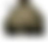 Jupe boule style incrustations fleuries totalement vert kaki grandes tailles au choix maryse richardson créations paris
