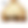 Jupe boule style incrustations fleuries totalement beige grandes tailles au choix maryse richardson créations paris
