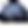 Jupe boule style incrustations fleuries totalement marine grandes tailles au choix maryse richardson créations paris