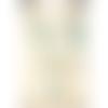 Collier  plastron ajustable ethnique hippie chic chaîne et fermoir argent 925 perles verres et agates semi précieuses