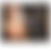 Headband créateur accessoire de coiffure romantique modulable en collier tons : bronze , rose poudre nude