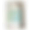 Sac cabas 14 x 38 x 42 cm tissu pastel vert menthe plumetis blancs  incrustation logo mr et anses en cuir blanc coordonné
