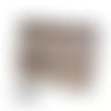 Mini sac à main pochette bandoulière 16 x 13 x 3 cm modulable en  besace cuir taupe style crocodile