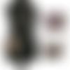 Mini sac à main pochette bandoulière cuir 16 x 13 x 3 cm modulable en  besace cuir taupe style crocodile