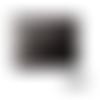 Pochette ou trousse à maquillage 16 x 13 x 3 cm en cuir luxe noir
