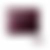 Pochette ou trousse à maquillage 16 x 13 x 3 cm en cuir luxe aubergine