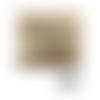 Pochette ou trousse à maquillage 16 x 13 x 3 cm en cuir luxe doré léger