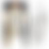 Collier sautoir ethnique hippie chic cuirs perles anthracite