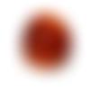 Bague en verre lampwork couleur marron caramel camel ambre style chevalière taille au choix