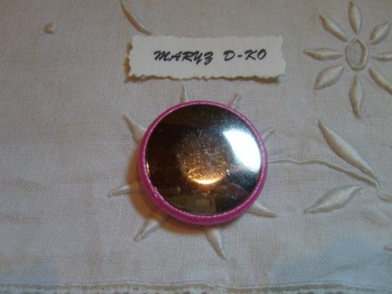 """Cabochons tissu 32mm """" Drap ancien et ruban satiné """""""