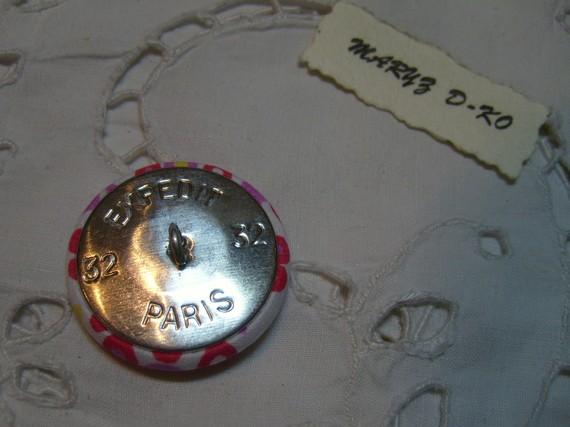 "Boutons tissu 32mm Liberty "" Capel fuchsia """