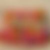 Boutons tissu japonais sakura assortiment 20mm