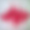1 applique superbe organza guipure 30 cm x 8 cm fuchsia